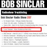 "BOB SINCLAR SUPPORT LUCA CASSANI ""STYLU"""